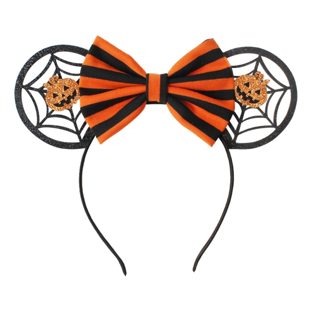 2018 halloweenchristmas festival minnie mouse ears headbands hair bow hairband for girls women party hair accessories headwear